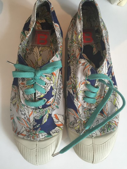 Boat Shoes mit Flower Print