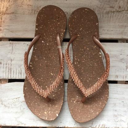Sandalen mit Strass-Besatz
